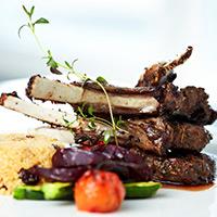 Balsamic-Dijon Provençal Lamb Chops: Main Image