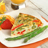 Asparagus Frittata with Red Bell Peppers: Main Image