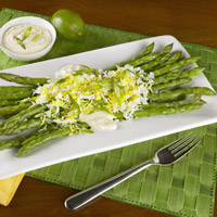 Asparagus with Lime Aioli, Egg and Green Onion: Main Image