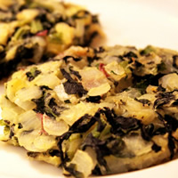 Mashed Potato Cakes with Onions and Kale: Main Image
